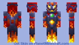 Lava Fiend From The Villains Skin Pack Minecraft Skin