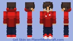 Chad in a red fade sweatshirt Minecraft Skin