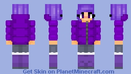 Puffy Purple sweater Minecraft Skin