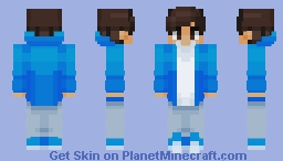 Chad in a blue fade jacket Minecraft Skin