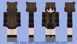 brown hair stripe sweater Minecraft Skin