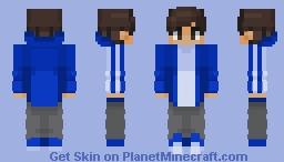 Chad in a dark blue Adidas jacket Minecraft Skin