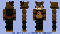 RECENTLY UPDATED Freddy Fazbear -FNaF plus + Minecraft Skin