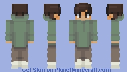Chad in a green and brown skin Minecraft Skin