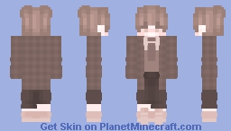 🤎🍫~chocolate~🍫🤎 [Brown Boy with a Plaid Jacket and a Tie with a Belt] Minecraft Skin