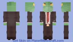 Frog Man Minecraft Skin