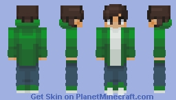 Chad in a green fading jacket Minecraft Skin