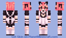 catgirl maid stuf Minecraft Skin
