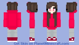 Cute Pink Valentines Girl Minecraft Skin