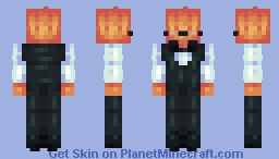 Grillby ~;~ Undertale Minecraft Skin