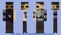 Gilded Paint Cyborg Minecraft Skin