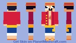 #010 Super Simplistica // Monkey D. Luffy Minecraft Skin