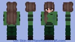 Green Egirl Minecraft Skin