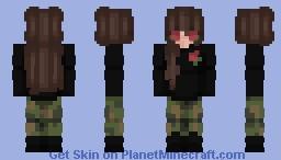 Valentines Flower Egirl Minecraft Skin