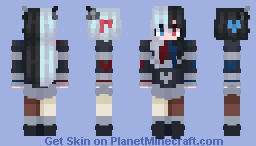 two-tone chocolate / valentine's day skin 2/3 Minecraft Skin
