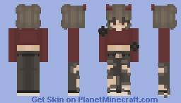 Red ~ Fem Feb day 10 Minecraft Skin