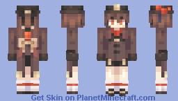 Hu Tao // Genshin Impact Minecraft Skin