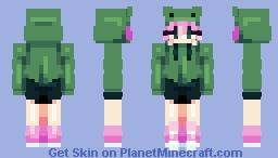 .;* funny froggy hat *;. Minecraft Skin