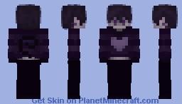 cute goth (ish) boy Minecraft Skin