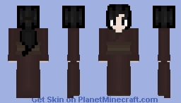 The Lady From Little Nightmares But Without Her Mask Minecraft Skin