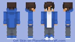 Chad in a light blue jacket Minecraft Skin