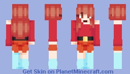 𝑭𝒍𝒂𝒎𝒆𝒂 - Girl With The Burning Heart Minecraft Skin