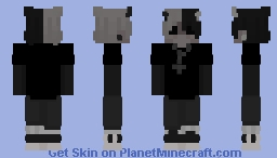 black and white devil Minecraft Skin