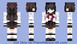 Elizabeth Ehscloud in Karakura high uniform Minecraft Skin