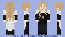 blonde and black Minecraft Skin