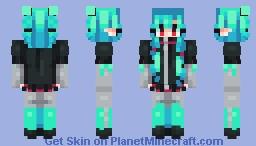 aqua // persona Minecraft Skin