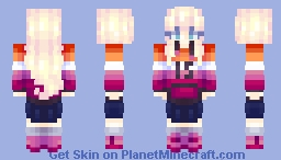 Spongegar15 Lesbian Pride! | Request + Fanart {✪ Popular Reel} Minecraft Skin