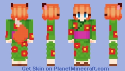 𝕄𝕚𝕟𝕠𝕣𝕚 - The Fox of the Harvest - CE Minecraft Skin