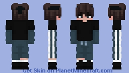 Black and Blue Eboy Minecraft Skin