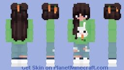 Bunny Egirl Minecraft Skin