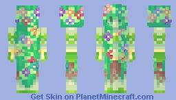 ⍜ Nature Goddess ⍜ | Remaking Old Skins #5 {✪ Popular Reel} Minecraft Skin