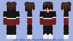 Red and Black Sweater Eboy Minecraft Skin