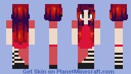 Rosé blackpink ddu du ddu du red dress Minecraft Skin