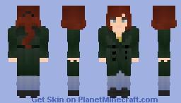Modern Girl in Green Coat ~  Check info! Minecraft Skin