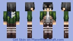Levi Ackerman - Attack on Titan Minecraft Skin