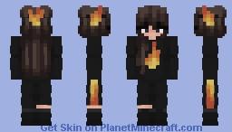 Fire Egirl Minecraft Skin