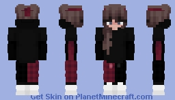 Red and Black Egirl Minecraft Skin