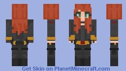 black widow (movie) black variation Minecraft Skin
