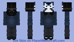 Blue Kitsune Minecraft Skin