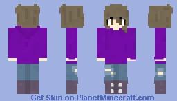 -~- Purple Hoodie Girl -~-