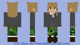 College Student-Blonde Hair-Amber Eyes- Minecraft Skin