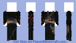 Black Kimono Minecraft Skin