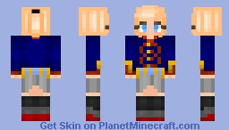 [ OC - SHIPGIRL ] HSwMS Gustaf V Minecraft Skin