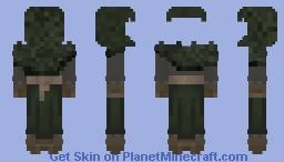 [FRP] Medieval Female Ranger Hooded Minecraft Skin