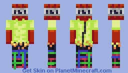 Literally TNT but human! Minecraft Skin