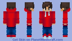 Chad in a red hoodie Minecraft Skin